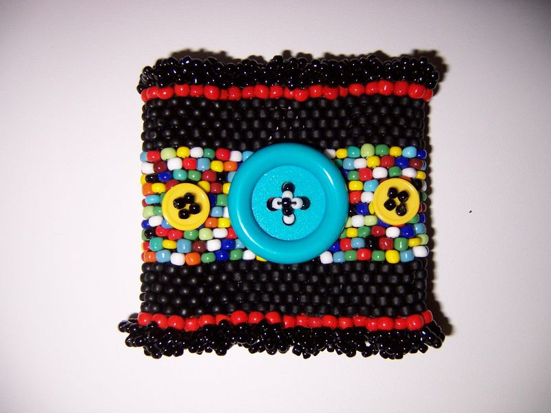 Beaded Button Cuff